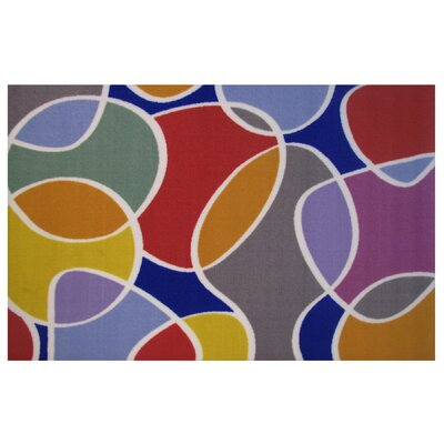 Fun Time Groovin Area Rug Rug Size: 17 x 25