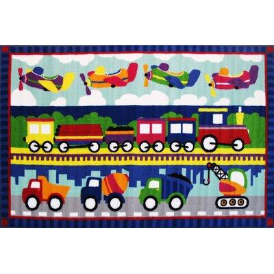 Fun Time Tran America Area Rug Rug Size: 17 x 25