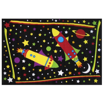 Fun Time Outer Space Black Area Rug