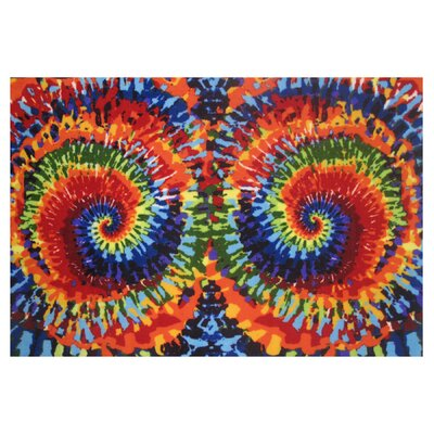 Fun Time Tie-Dye Fun Area Rug Rug Size: 43 x 66