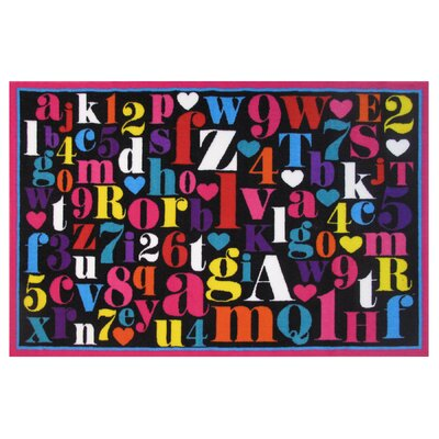Fun Time Alphabet Area Rug Rug Size: 33 x 410