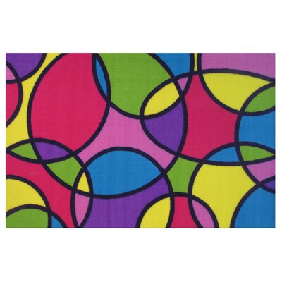 Fun Time Round and Round�Area Rug Rug Size: 43 x 66