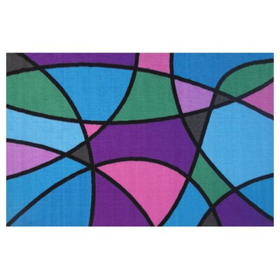 Fun Time Wave Area Rug Rug Size: 43 x 66