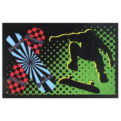 Fun Time Board Flip Area Rug Rug Size: 17 x 25