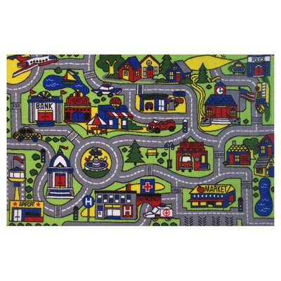Fornax Driving Time Area Rug Rug Size: 4'3