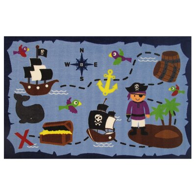 Fun Time Ahoy Matey Blue Area Rug