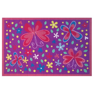 Fun Time Butterfly Valley Lavender Area Rug