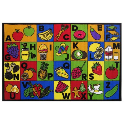 Fun Time ABC Food Area Rug Rug Size: 33 x 410