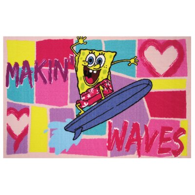 SpongeBob Making Waves Area Rug Rug Size: 33 x 410