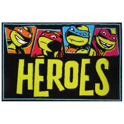Ninja Turtles Heroes Area Rug Rug Size: 33 x 410