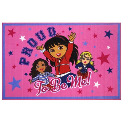 Dora Proud To Be Me Area Rug Rug Size: 17 x 25
