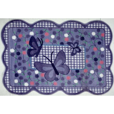 Supreme Butterfly Purple Area Rug Rug Size: Butterfly 3'3