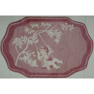 Supreme Pink Toile Red/White Area Rug Rug Size: 33 x 410
