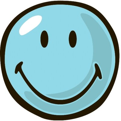 Smiley World Blue Smiley Area Rug Rug Size: Round 33