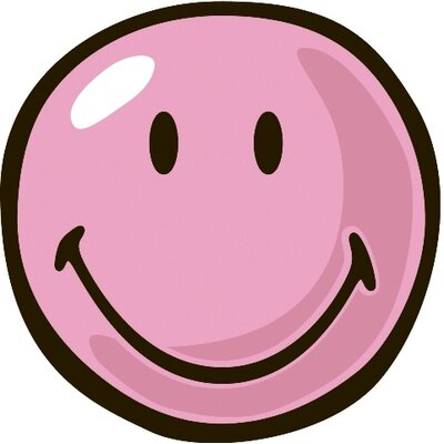 Smiley World Pink Smiley Area Rug Rug Size: Round 33