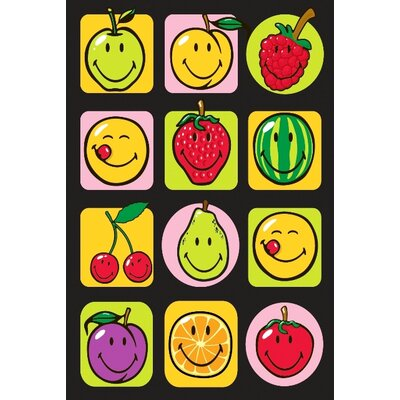 Smiley World Fruitti Area Rug Rug Size: 33 x 410