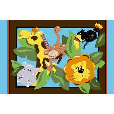 Jade Reynolds In The Jungle Kids Rug Rug Size: 33 x 410