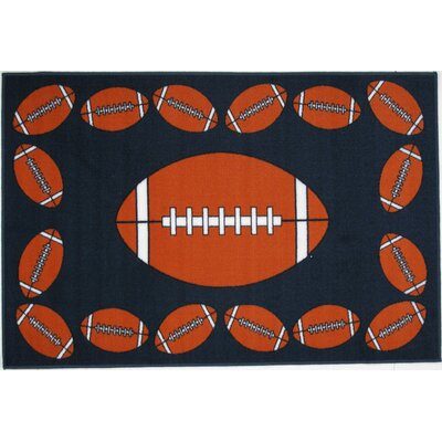 Fun Time Football Time Area Rug Rug Size: 17 x 25