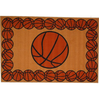 Fun Time Basketball Time Area Rug Rug Size: 33 x 410