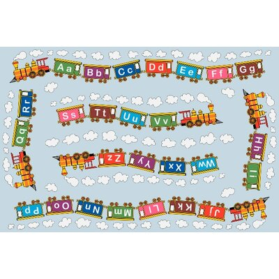 Fun Time Edu Train Area Rug Rug Size: 3'3