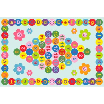 Fun Time Happy Learning Area Rug Rug Size: 17 x 25