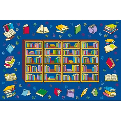 Fun Time Reading Time Area Rug Rug Size: 17 x 25