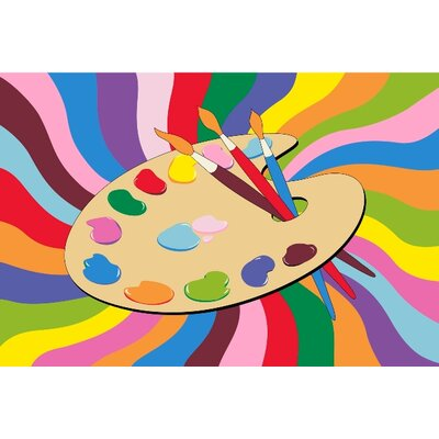 Fun Time Painting Time Area Rug Rug Size: 17 x 25