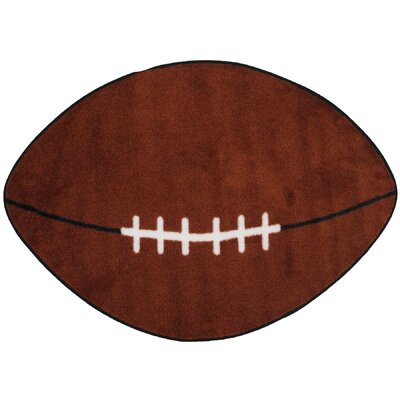 Fun Shape Football Sports Area Rug Rug Size: Novelty 24 x 39