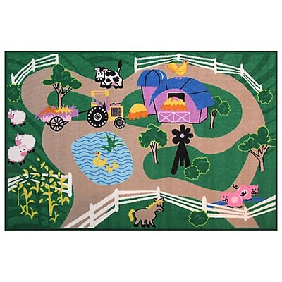 Fun Time Farm Roads Area Rug Rug Size: 33 x 410