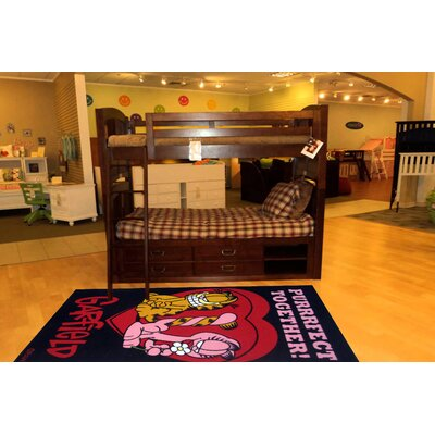 Garfield Purrfect Together Black Area Rug Rug Size: 33 x 410