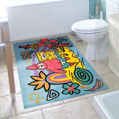 SpongeBob and Patrick Area Rug Rug Size: 17 x 25