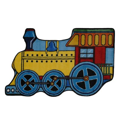 Fun Shape High Pile Train Area Rug Rug Size: Train 27 x 311