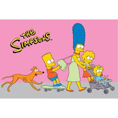 "Fun Rugs The Simpsons Walk N' Roll Pink Kids Rug - Rug Size: 3'3"" x 4'10"" at Sears.com"