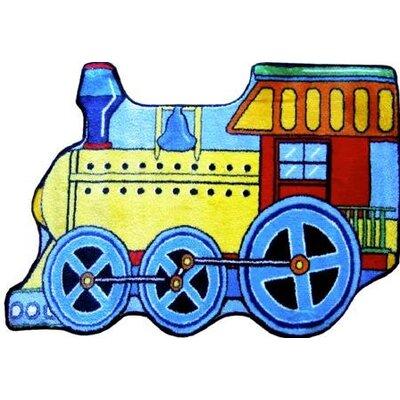 Fun Shape High Pile Train Area Rug Rug Size: Train 27 x 311
