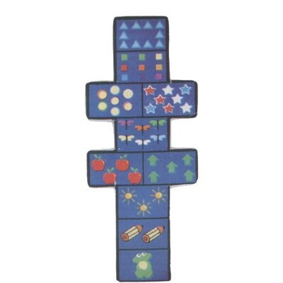 Fun Shape Medium Pile Hopscotch Area Rug Rug Size: Novelty 26 x 66