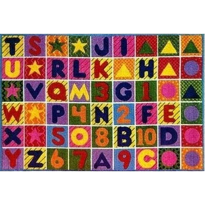 Supreme Numbers and Alphabet Area Rug Rug Size: 53 x 76