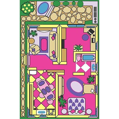 Fun Time Dollhouse Play Area Rug Rug Size: 43 x 66