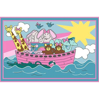 Fun Time Noahs Ark Area Rug Rug Size: 27 x 311