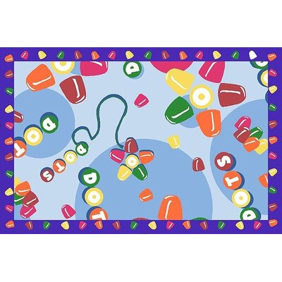 Tootsie Roll Dots Area Rug Rug Size: 17 x 25