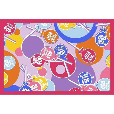 Tootsie Roll Pop Area Rug Rug Size: 17 x 25