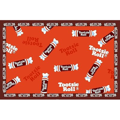 Tootsie Roll Candy Area Rug Rug Size: Rectangle 17 x 25