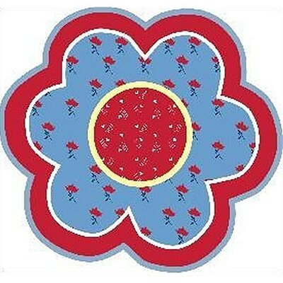 Fun Shape High Pile Bandana Flower Area Rug Rug Size: Round 33