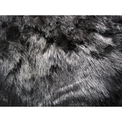 Flokati Black Area Rug Rug Size: Rectangle 27 x 311