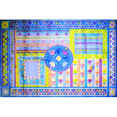 Supreme Tulip Quilt Area Rug Rug Size: 53 x 76