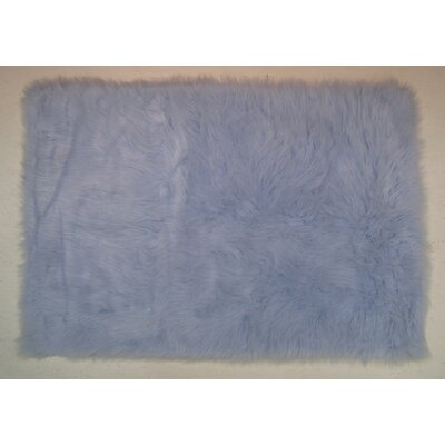Light Blue Kids Rug Rug Size: 27 x 311
