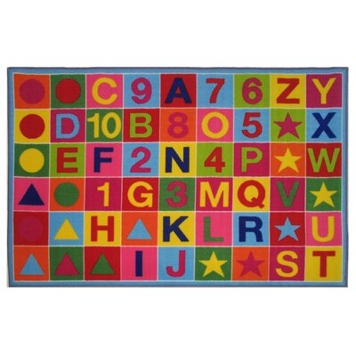 Fun Time Alphanumeric Fun Area Rug Rug Size: 68 x 10