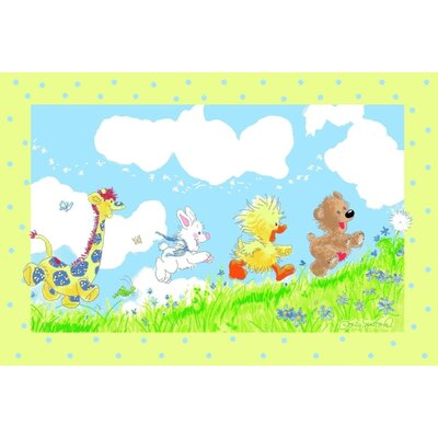 Suzy Zoo Looking For The Wishing Puff Area Rug Rug Size: 33 x 410