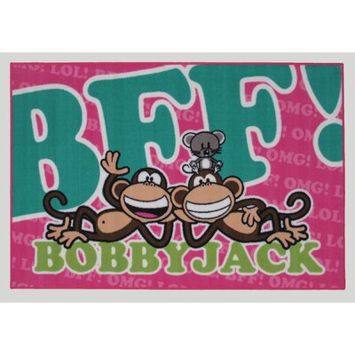 Bobby Jack BFF-Text Area Rug Rug Size: 33 x 410