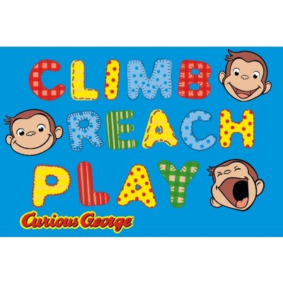 Curious George Climb, Reach, Play Kids Rug Rug Size: 33 x 410