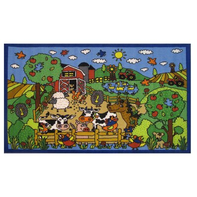 Fun Time Happy Farm Area Rug Rug Size: 33 x 410